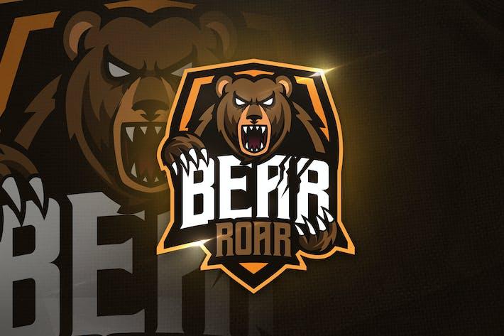 Thumbnail for Bear Roar Mascot & Esport Logo