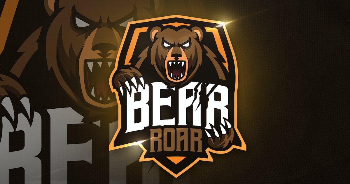 Download Bear Roar Mascot & Esport Logo by aqrstudio