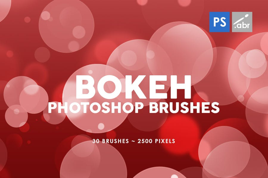 30 Bokeh Photoshop Stamp Brushes