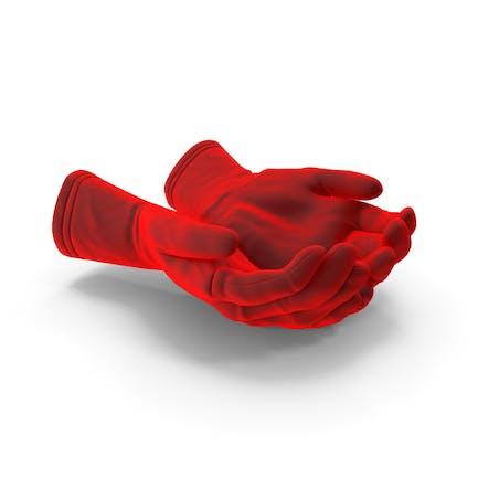 Two Gloves Velvet Handful Pose