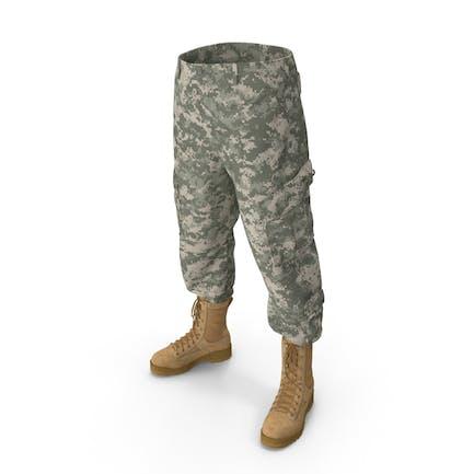 Pantalones del Ejército ACU con Botas