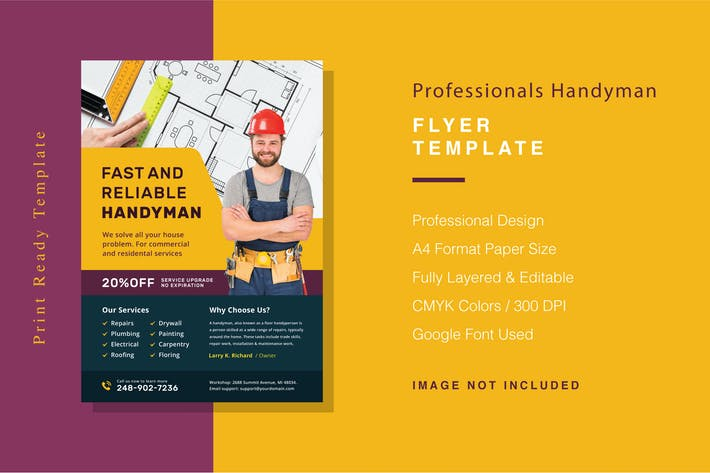 Thumbnail for Professionals Handyman Flyer Template
