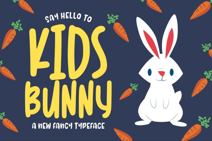 Thumbnail for Kidsbunny - a Playful Font