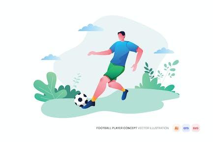 Fußballspieler Konzept Vektor-Illustration