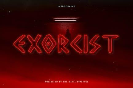 Exorcist - Horror Display Tipo de letra