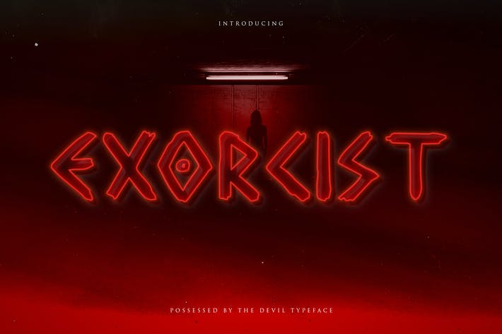Thumbnail for Exorcist - Horror Display Typeface