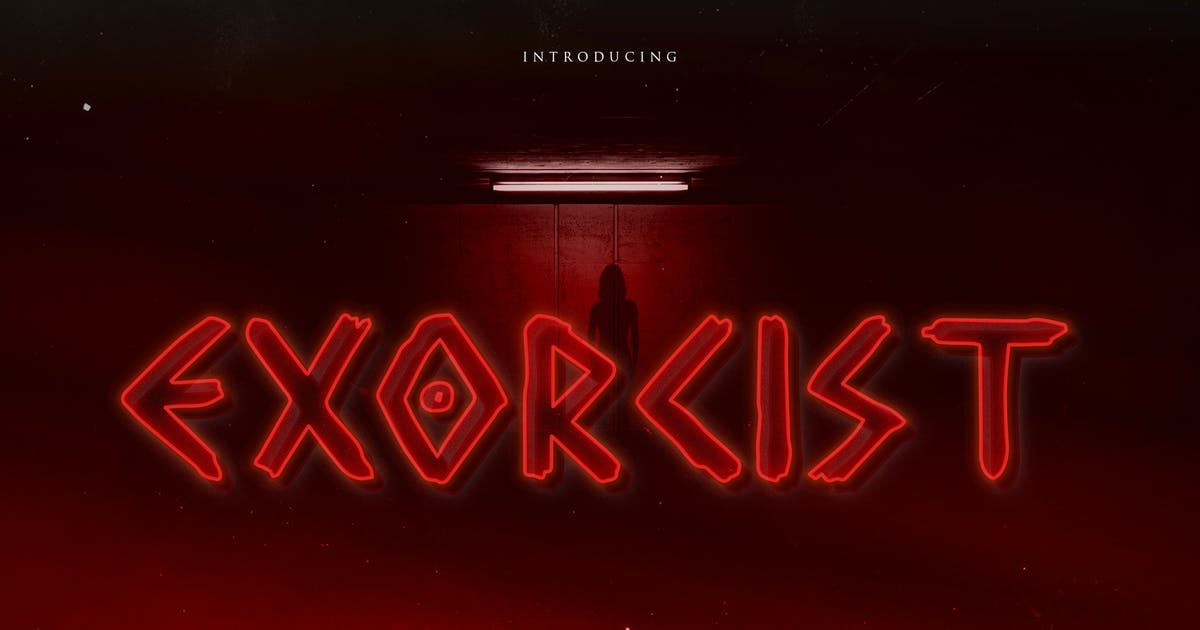 Download Exorcist - Horror Display Typeface by naulicrea