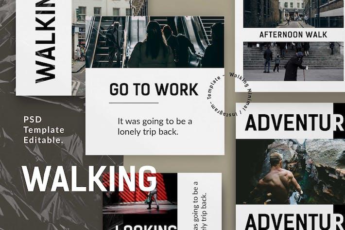 Thumbnail for Walking - Vol 2 Social Media Story & Post IG