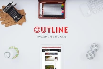 Creative Magazine PSD Template - WPDance Outline