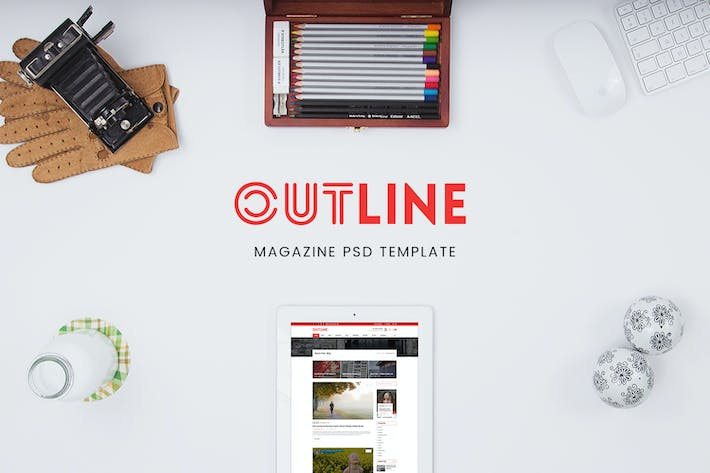Creative Magazine PSD Template - WPDance Outline