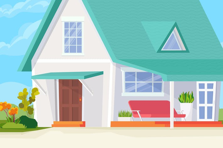 Thumbnail for Sweet House - Illustration Background