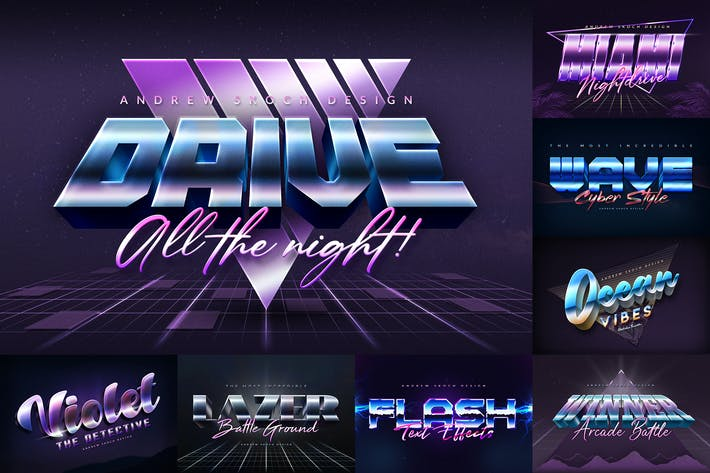 Thumbnail for 80s Style Text Effects
