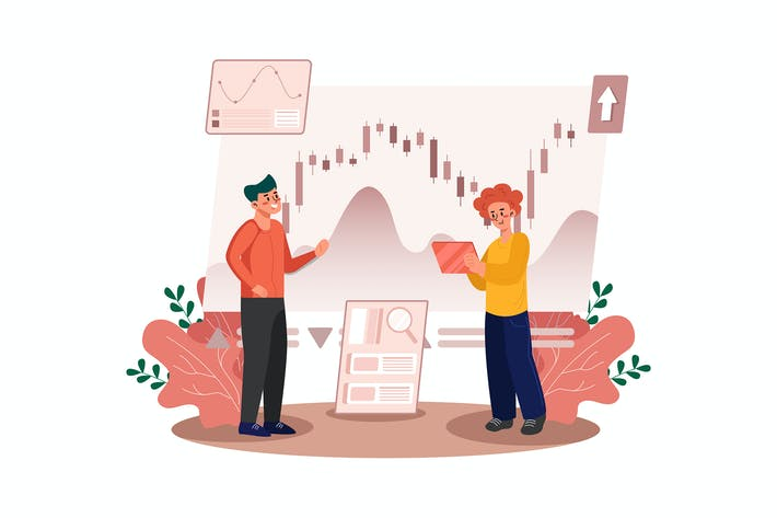 Thumbnail for The men are learning the stock market's chart