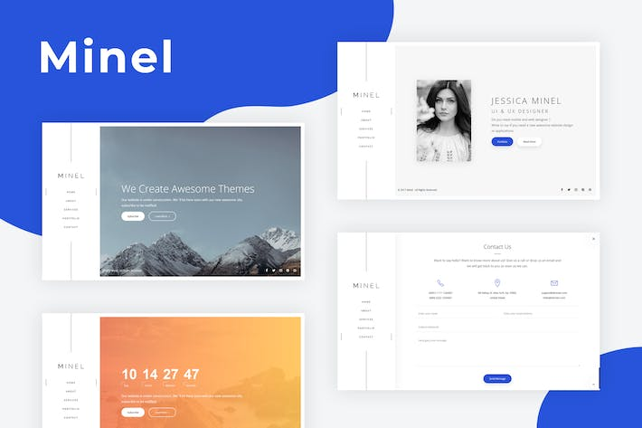 Cover Image For Minel - Responsive Minimal Site Template