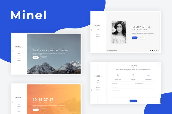 Thumbnail for Minel - Responsive Minimal Site Template