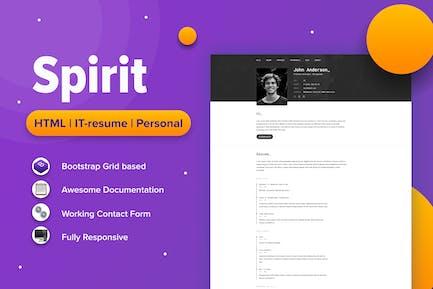 SpirIT — Portfolio & Resume HTML Template