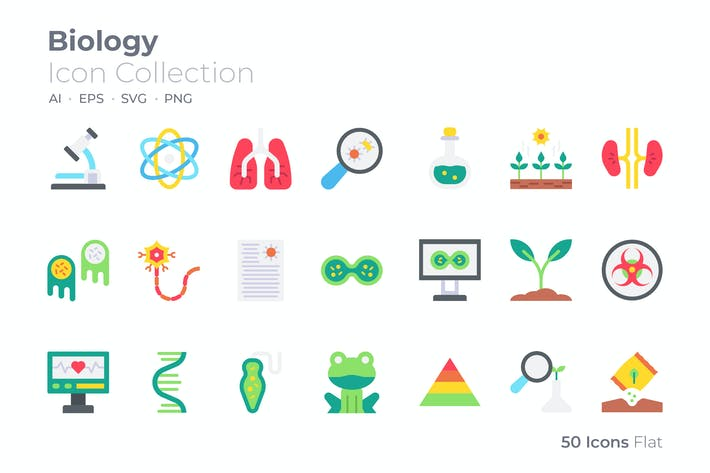 Biology Color Icon