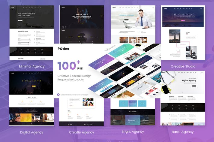 Thumbnail for Podes | Responsive Multi-Purpose HTML Template