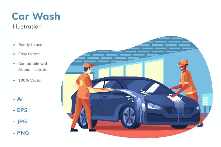 Thumbnail for Car Wash Illustration