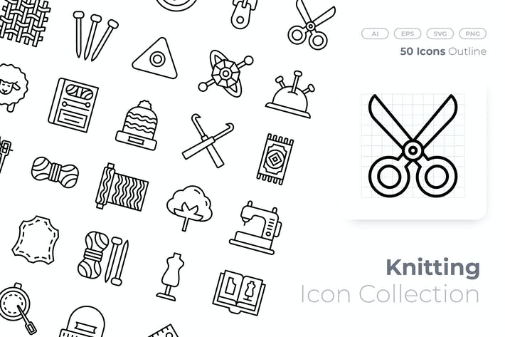 Thumbnail for Knitting Outline Icon