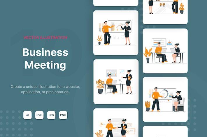 Thumbnail for Illustrationen für Geschäftstreffen