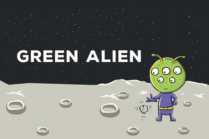 Thumbnail for Green Alien Vector Illustration