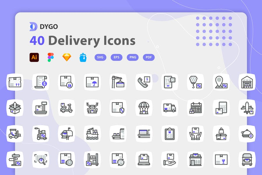 Dygo - Delivery Icons