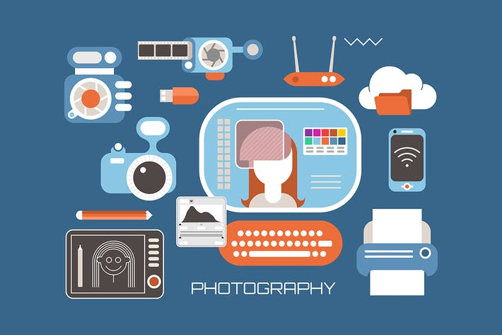 Thumbnail for Professional photography vector illustration