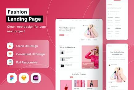 Page de destination Fashion