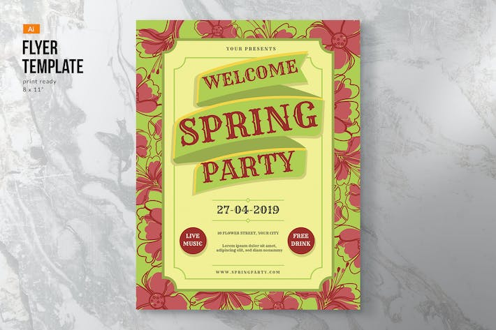 Thumbnail for Flower Spring Flyer Template