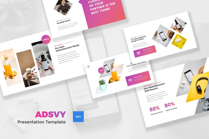 Thumbnail for Advertisement Keynote Template