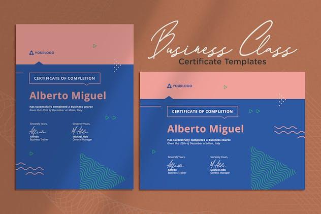 Certificate Vol.04 Business Class