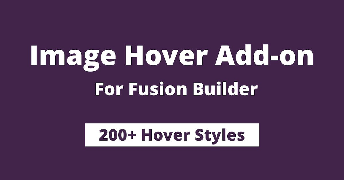 Download Image Hover Add-on for Fusion Builder and Avada by infiwebs
