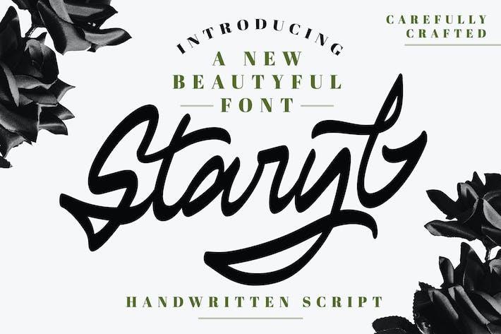 Thumbnail for Staryl | Handwritten Script Font