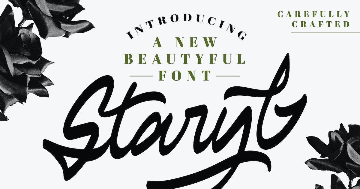 Download Staryl | Handwritten Script Font by Vunira