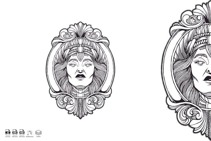 Thumbnail for Queen Kingdom vintage logo