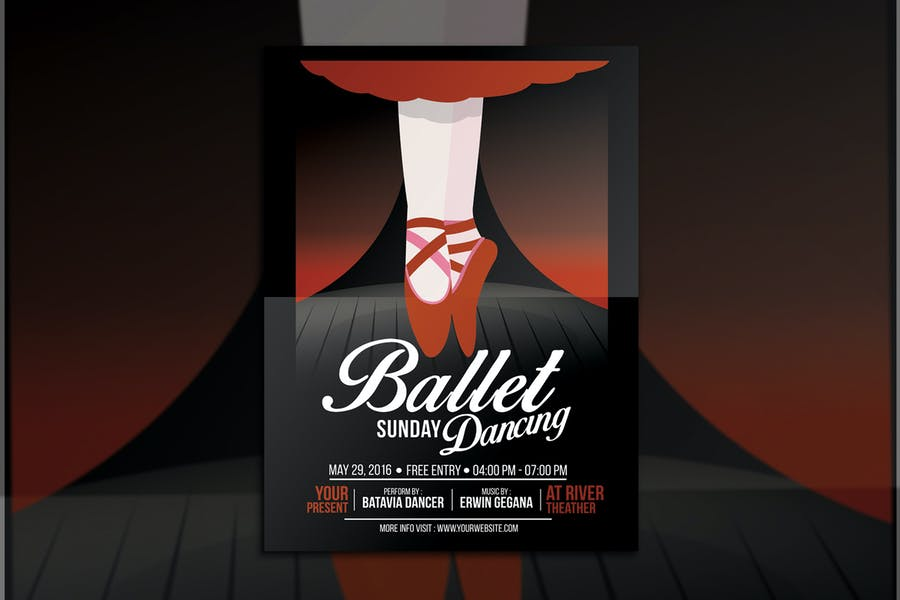 Ballet Dance Event Flyer