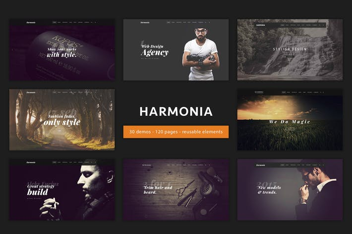 Harmonia - Multipurpose One/Multi-Page Template by IG_design