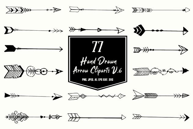 Hand Drawn Arrows Cliparts Ver. 6