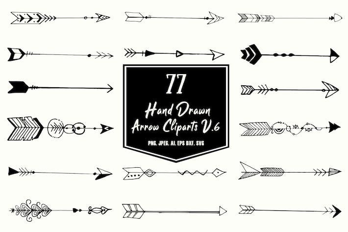 Thumbnail for Hand Drawn Arrows Cliparts Ver. 6