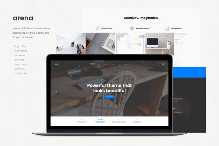 Thumbnail for Arena - Corporate PSD Template