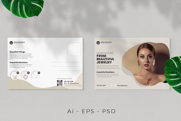 Jewelry Postcard Design
