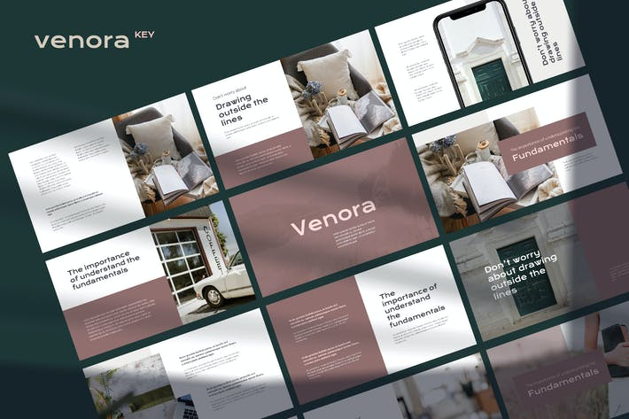 Thumbnail for Venora - Elegant Keynote Template