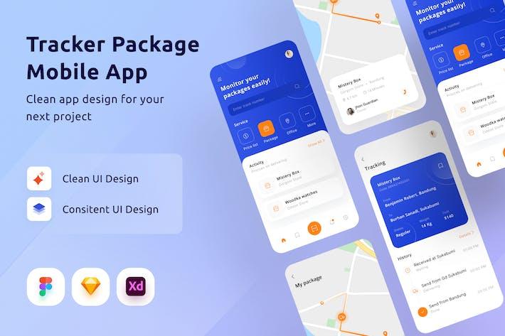 Tracker-Paket Mobile App