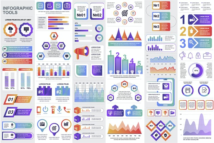 Thumbnail for Financial Infographics Template