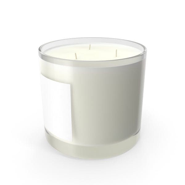 Scented Candle Big Glass White