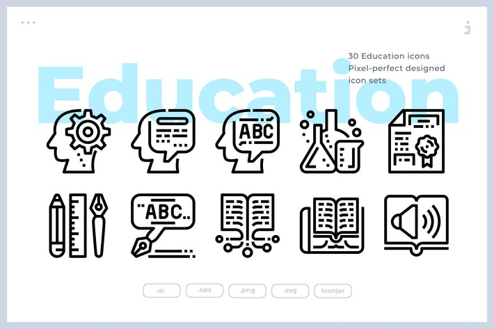 Thumbnail for 30 Education and Learning Icons