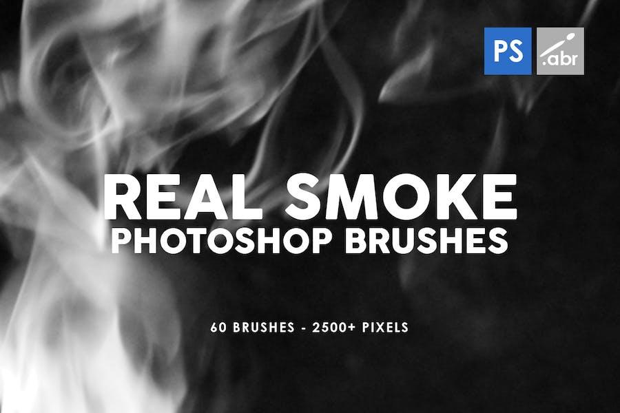 60 Real Smoke Photoshop Stamp Brushes