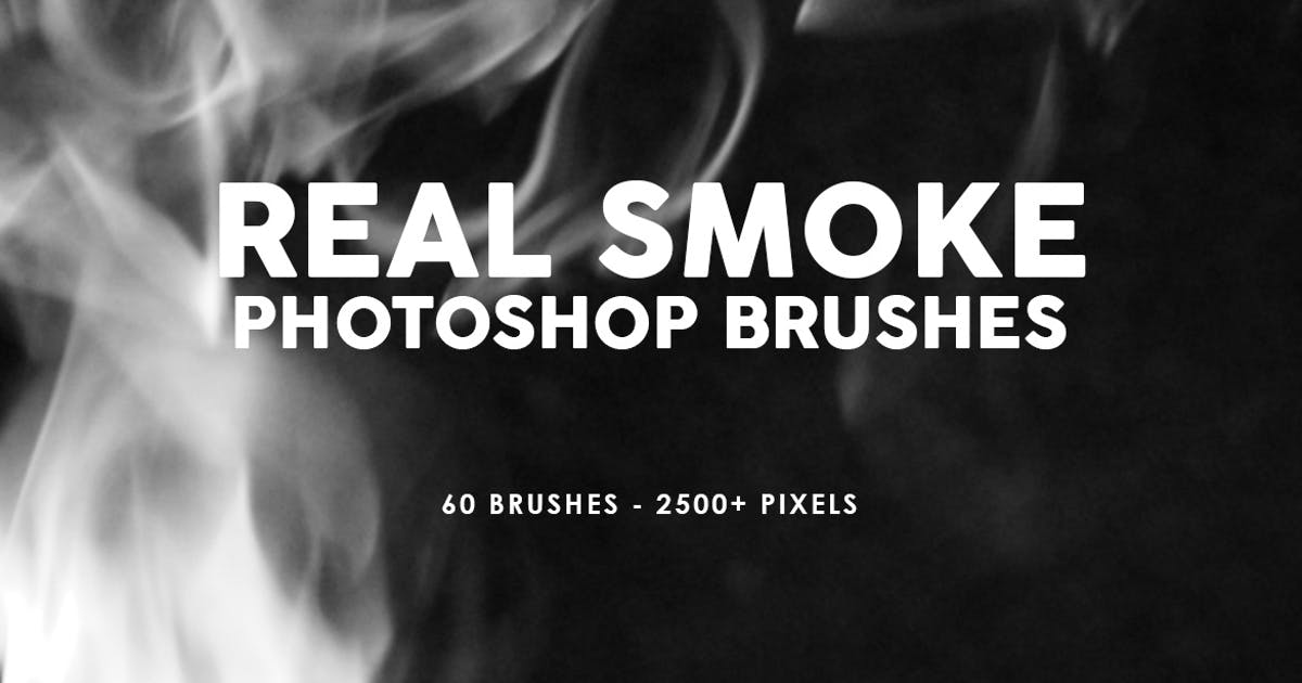 Download 60 Real Smoke Photoshop Stamp Brushes by M-e-f
