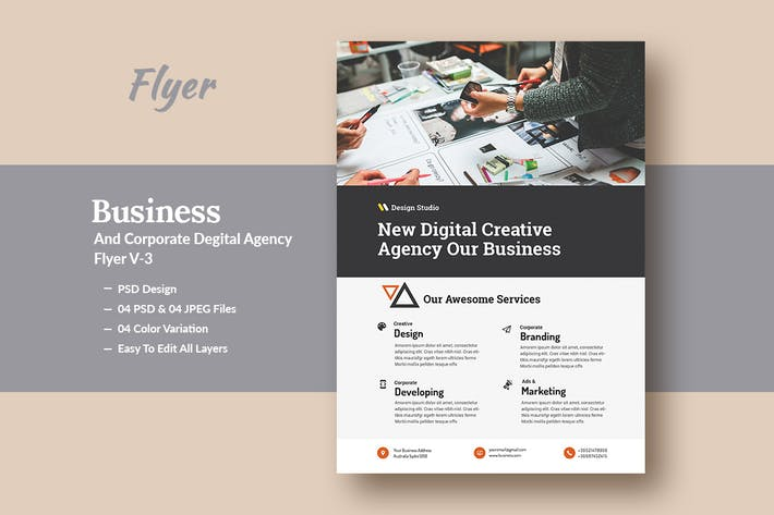 Thumbnail for Business And Corporate Digital Agency Flyer V-3